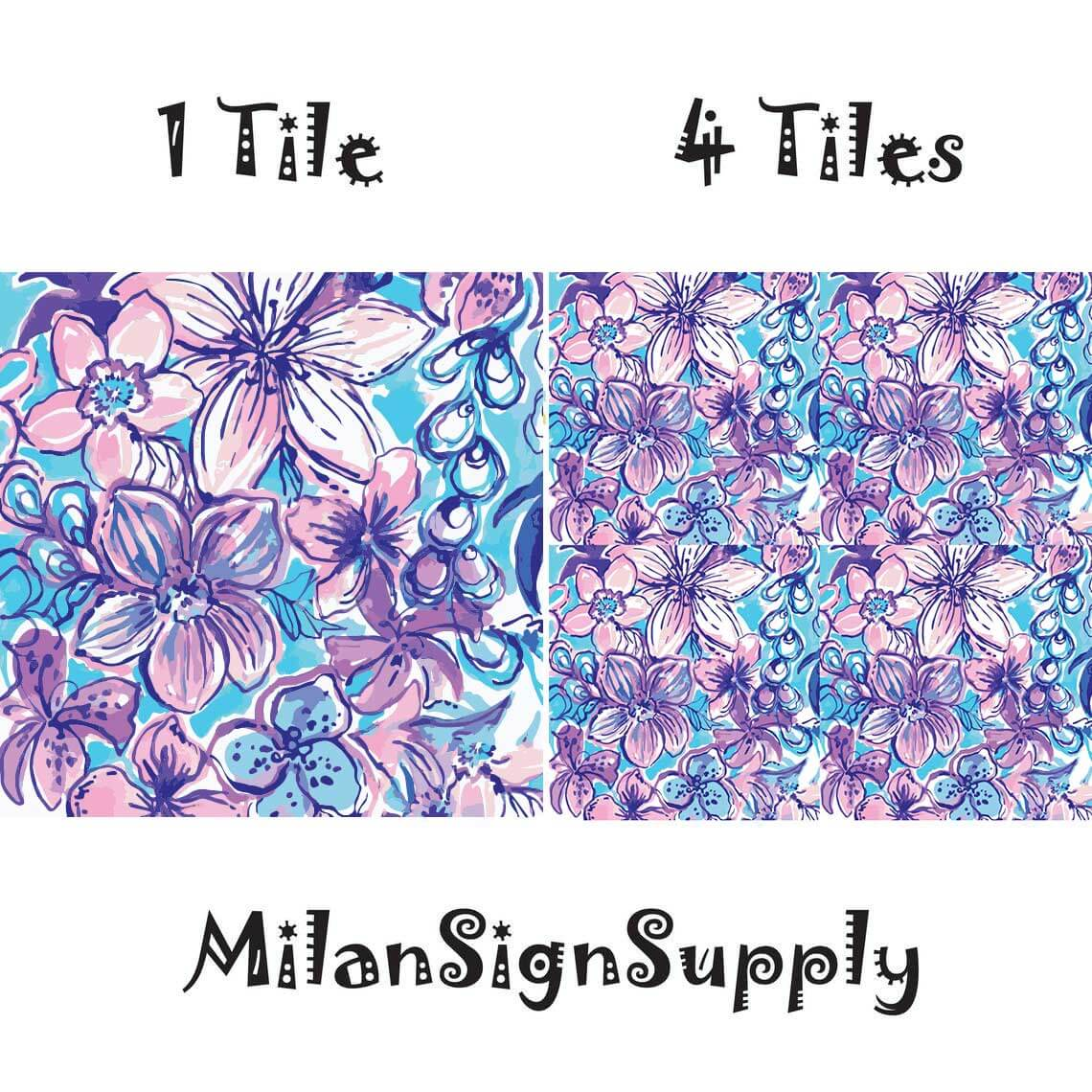 Print style - 1 or 4 tiles
