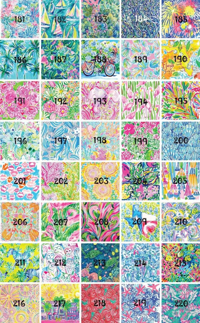 Lilly patterns 181-220